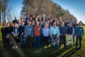 Last year's recipient Alex Davies and his fellow 2019 Rabobank Farm Manager Program attendees