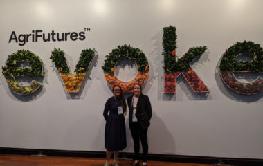 FFN & Agrifutures Australia evokeAG ticket and bursary winner Alice Clarke caught up with FFN EO Jamie-Lee Oldfield at the event.